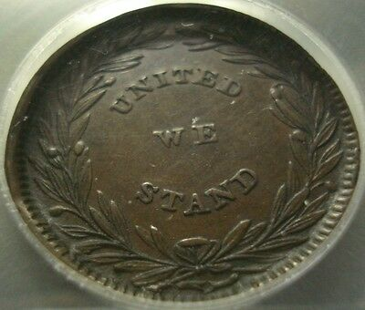 """1840 Henry Clay Token with Full """"WE"""" Rare Like That"""