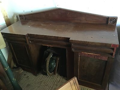 Antique William IV sideboard in need of restoration. Beautiful piece.