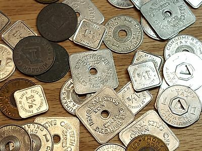 Fantastic Lot of 40 State Tax Tokens from 1930's 4150