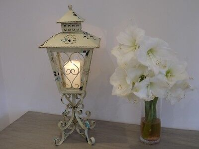 New French Antique Vintage Garden Candle Carriage Lantern Lamp Holder Large 67cm