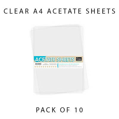 Couture Creations - A4 Clear 250 mic Acetate Sheets Pack of 10