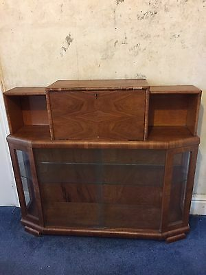 50s/60s Glass Display Cabinet Art Deco Style