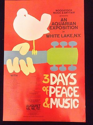 Woodstock 3 Days Of Peace And Music Poster - Mint Condition