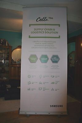 Expandable Retractable Trade Show Display Roll Up Banner Screen