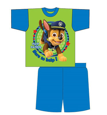 Kids Boys Paw Patrol Cotton Nightwear Shortie Shorts Summer Pyjamas Sleepwear
