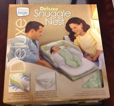 Baby Delight Snuggle Nest Deluxe Infant Sleeper Green Never Used