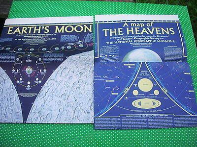National Geographic- Maps of The Heavens, Earth's Moon, vintage posters (Apollo)