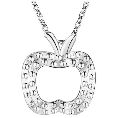New products Fashion Jewelry 925 Silver fine gift Apple  necklace Female Pendant