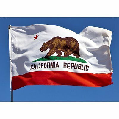 LIEOMO 3ft X 5ft Banner California State Flag Grommets Indoor Outdoor