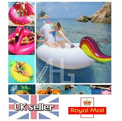 Giant Inflatable Water Float Raft Swimming Pool Lounger Beach Fun Sports Toys UK