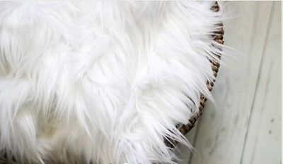 """Faux Fur Snow White 18""""x20"""" photo prop very soft Blanket ,Photography's"""