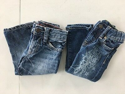 Lot of 2 Boy's Baby Gap 1969 Jeans- Size 12-18 Months