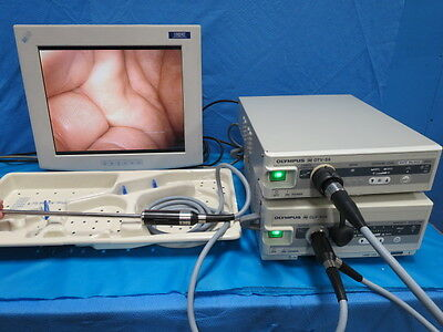 Olympus A4801A VideoLap Laparoscope System with Light Source and Camera Console