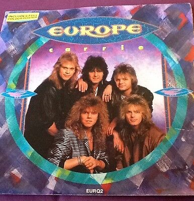 """Europe Carrie B/w Love Chaser Vgc 7"""" Rock Poster Sleeve"""