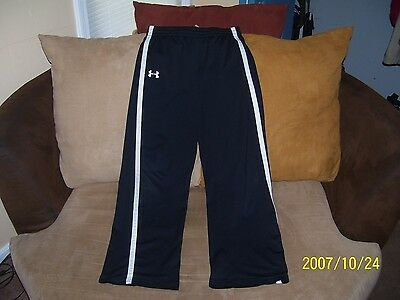Boy's Black Under Armour Loose Athletic Pants Size Youth XL