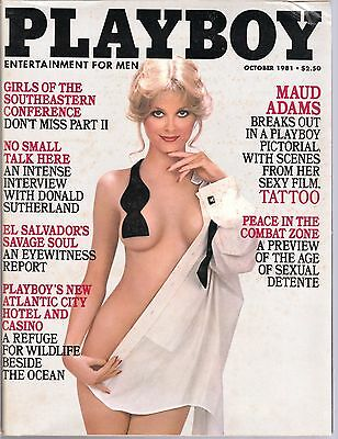 Vintage Playboy Magazine October 1981 Issue. Good Condition.