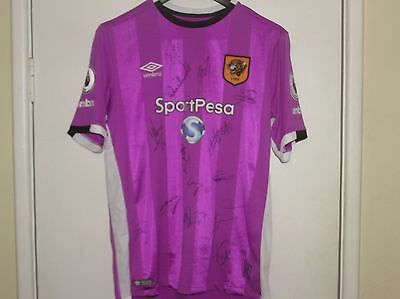 Squad Signed Hull City AFC 2016/17 Season Away Shirt 15 Autographs!