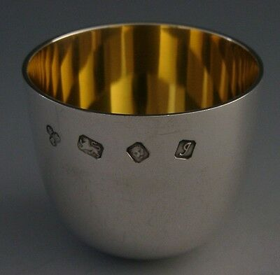 Superb Quality Sterling Silver Whisky Tot Cup Tumbler 1982 Barware