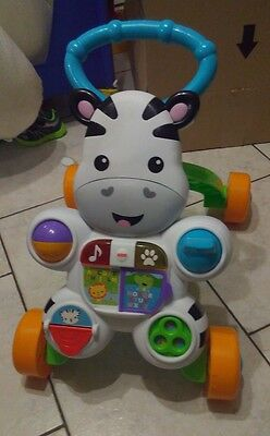 trotteur zebre parlant Fisher Price