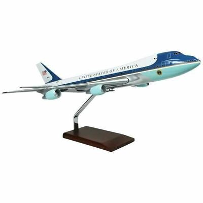 "Airplane USAF VC-25A Air Force One Boeing 747-200 Wood 18.5"" Model Aircraft"