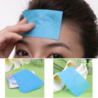 100x Facial Oil Control Absorption Film Tissue Makeup Blotting Paper Grease skin