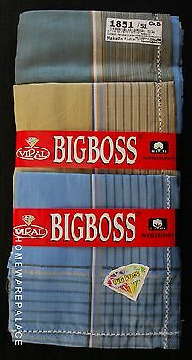 Mens Handkerchiefs 100% Cotton 12 Pack 45 cm Square 3 Dark Colour Shades