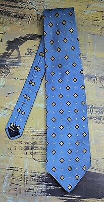 NWT New Brooks Brothers Makers Light Blue Geometric 100% Woven Silk Tie USA Made