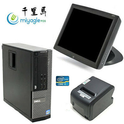 "15"" Point of Sale System POS All in One Touchscreen Restaurant Dell i5 ELO"