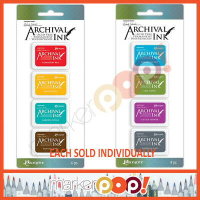Wendy Vecchi Archival Mini Ink Pad Individual Sets - Kit #1 #2 BRAND NEW