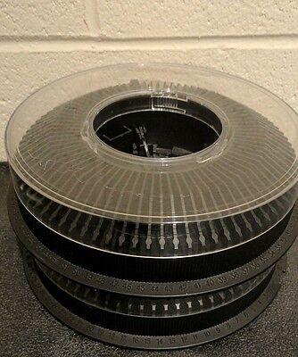 2 Kodak Carousel Transvue 80 Slide Trays - Excellent condition w/Covers - Tested