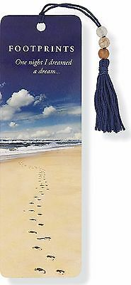 Footprints Beaded Bookmark Inspirational Quote Fun Cheap Gift Reading Books Book