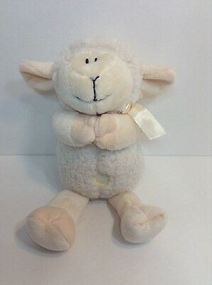 "Stephan Baby Toy Plush Musical Lamb Sheep Jesus Loves Me 11"" White Stuffed"