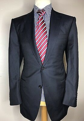 MARKS & SPENCER COLLEZIONE LUXURY SUIT STRIPED NAVY CLASSIC FIT 40x34x30