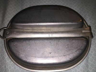 Vintage 1966 Us Army Military Mess Kit