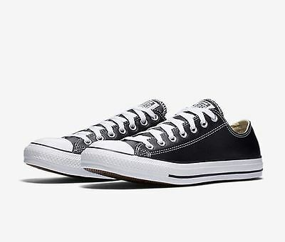 444712e70adc0e Converse Chuck Taylor All Star Leather Low Top Ox Sneaker (132174C) Black