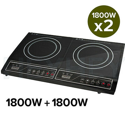 New Portable Induction LED Electric Double Duo Hot Plate Burners Cooktop Stove