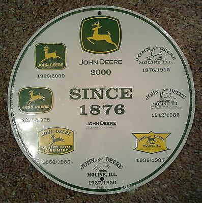 "John Deere Tractor 12"" Metal Tin Advertising Wall Hanging Sign Licensed Product"