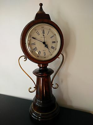Vintage Carrington quartz made in England wood case table standing clock 24""