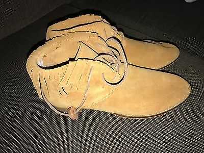 Top End Casual Suede Shoes Boots Tan Size 39 NEW