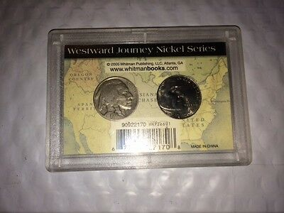 2005 Bison and 1936 Buffalo NICKEL@@@@@@ set OLD and the NEW@@@@@