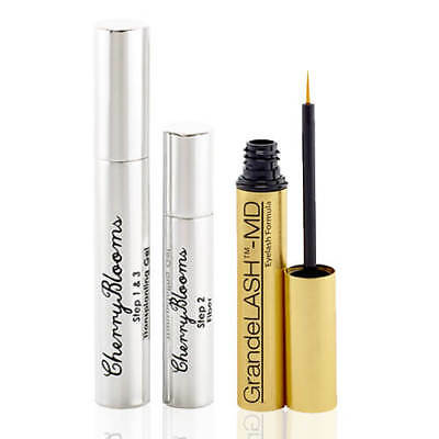 CHERRY BLOOMS Fiber Lash Mascara and GrandeLASH MD Growth Serum EXPRESS SHIPPING