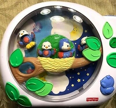 RARE Fisher Price Flutterbye Dream Bird Crib Baby Projector Music Soother mobile