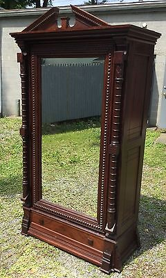 19Th C. Renaissance Walnut Carved Wardrobe