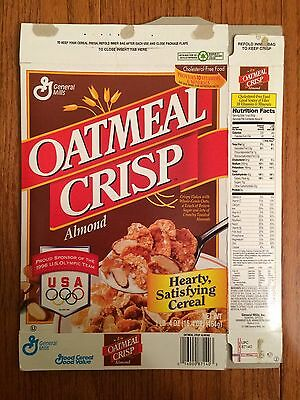 "1997 Vintage (General Mills) ""OATMEAL CRISP ALMOND"" Cereal Box, RARE!"