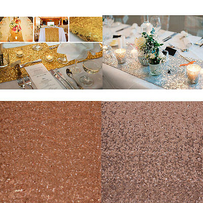 Romantic 30x275cm Sequin Table Runner Anniversary Party Decoration Supplies