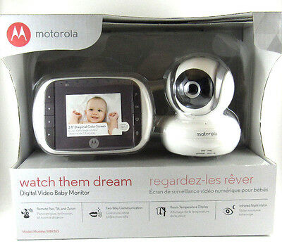 NEW Motorola MBP35S Wireless Video Baby Monitor 2-Way Audio Night Vision & Zoom