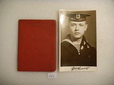 Soviet Russian USSR Navy Qualification certificate with a photo portrait