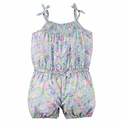 Carters 12 Months Flower Print Sleeveless Romper NWT Summer Baby Girl Clothes