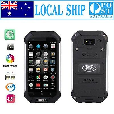 New Discovery Smartphone Quad Core Rugged Android Smartwild Nut1 V19 Black