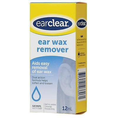 Ear Clear Wax Remover Drop 12Ml Aids easy removal of ear wax